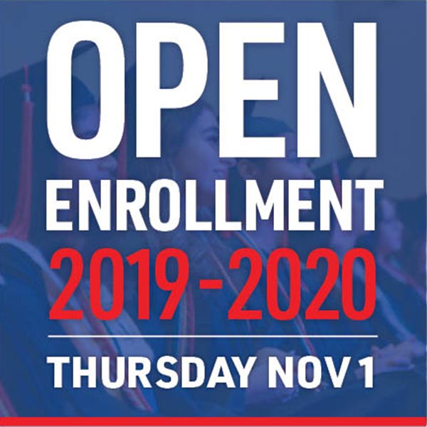 Open Enrollment 2018 - 2019 begins Thursday November 1st, 2018