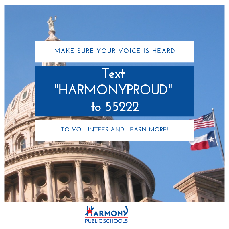 "Make sure your voice is heard: text ""HARMONYPROUD"" TO 55222 to volunteer and learn more!"