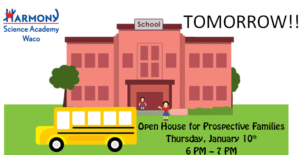 open house jan 10 6-7pm